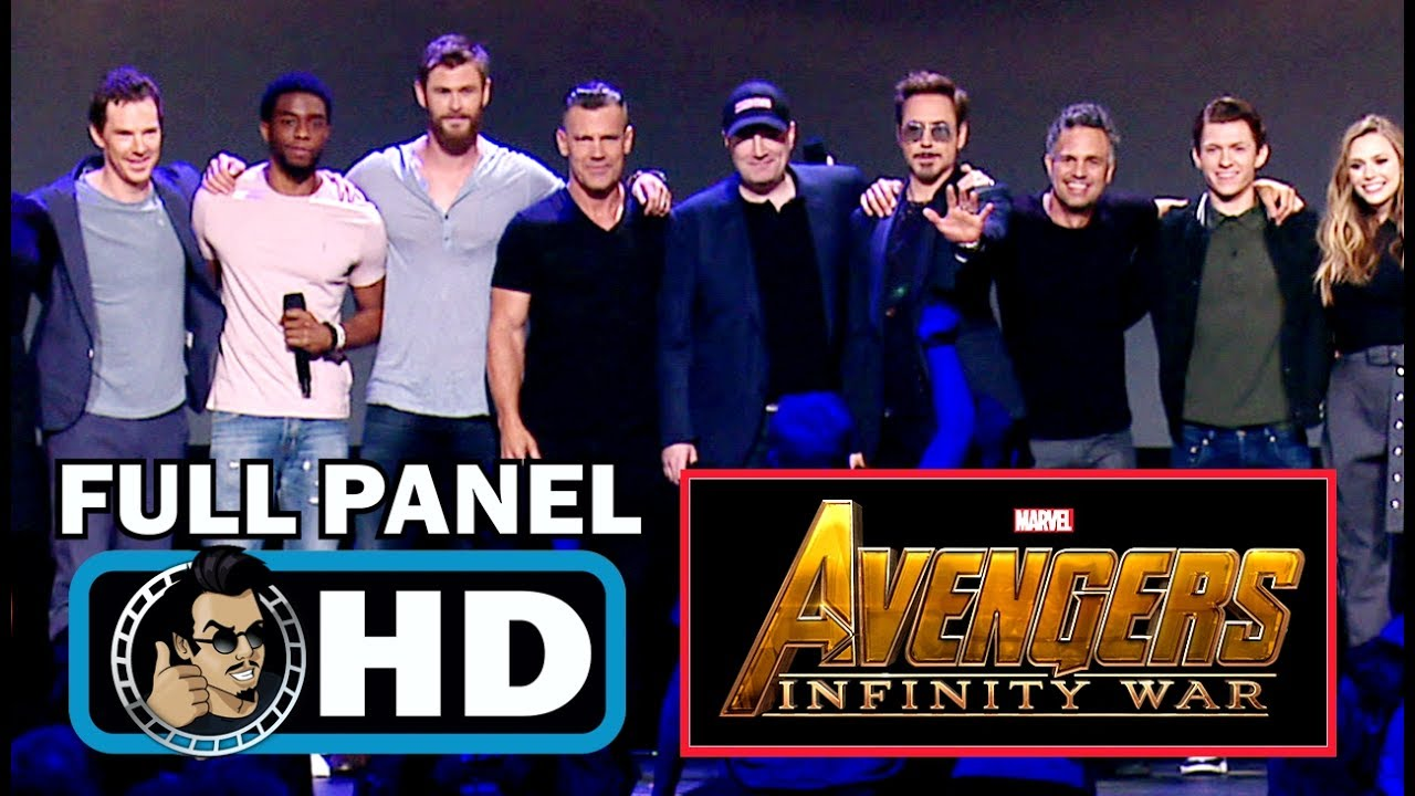 avengers: infinity war full d23 cast panel & trailer introduction