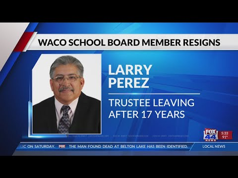 2nd Waco School Board Member steps down