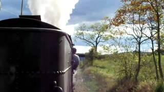East Broad Top Railroad #15 Passes Under A Driveway Bridge On 10-3-2010
