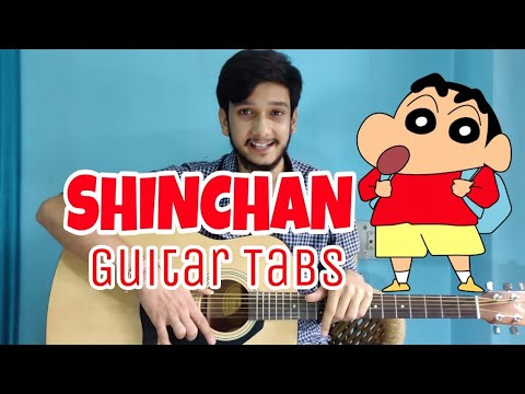 SHINCHAN- Easiest!! Guitar Tabs Lesson |Only 3 Strings|Easiest Guitar Lessons For Beginners in Hindi