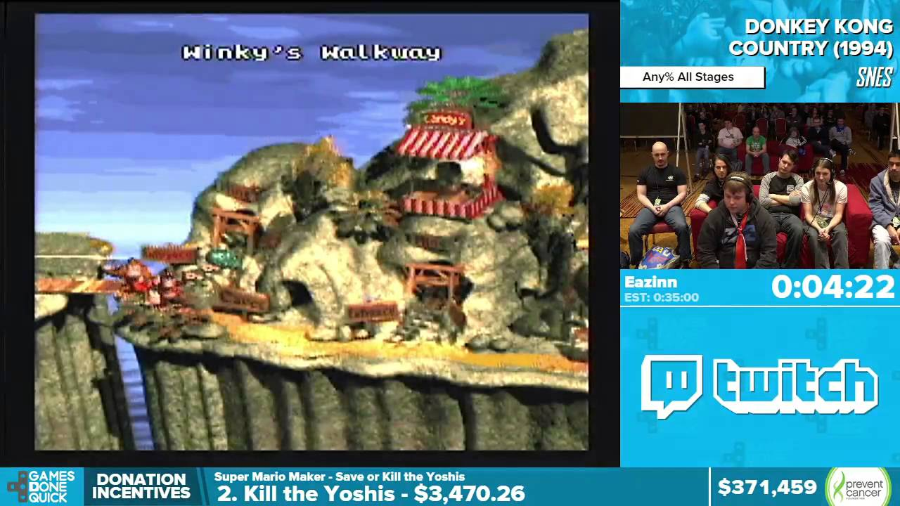 Donkey Kong Country By Eazinn In Awesome Games Done Quick - Country games