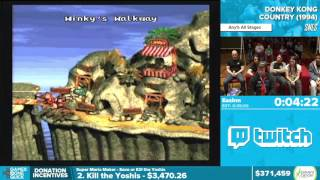 Donkey Kong Country by Eazinn in 36:10 - Awesome Games Done Quick 2016 - Part 80