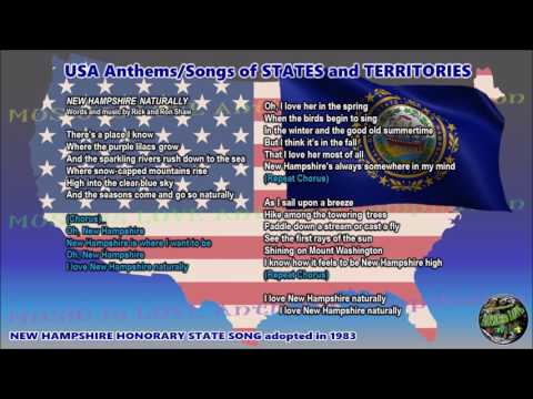 New Hampshire Honorary State Song NEW HAMPSHIRE NATURALLY with music, vocal and lyrics