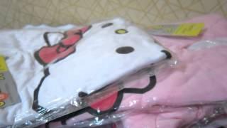Посылка из Китая № 22 костюм детский HELLO  KITTY обзор  распаковка