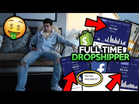 Day In The Life Of A Full Time Dropshipper | Shopify Dropshipping 2019