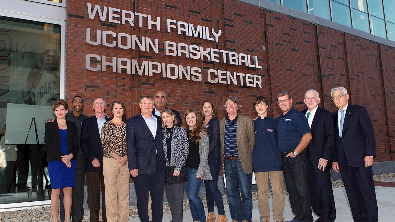 UConn Basketball Champions Center Named For Werth Family ...