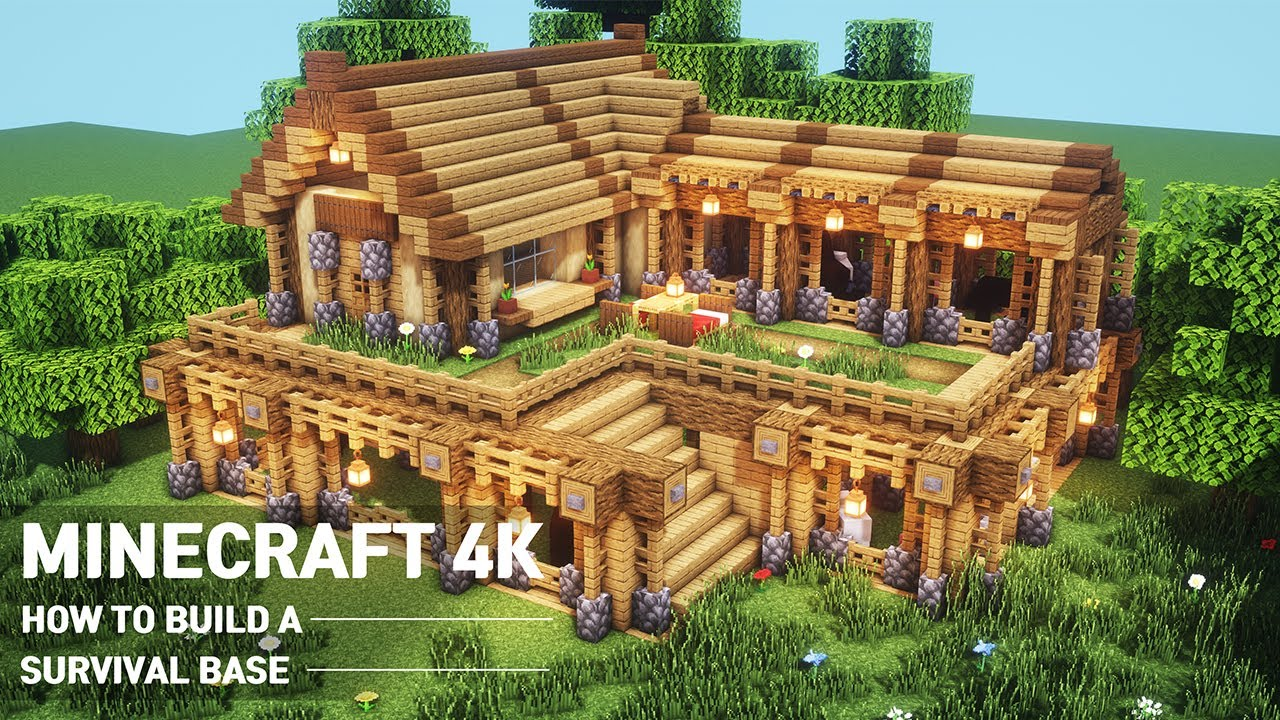 Ultimate Minecraft Survival Base With Everything You Want To Surviveal Minecraft House Tutorial 95 Youtube