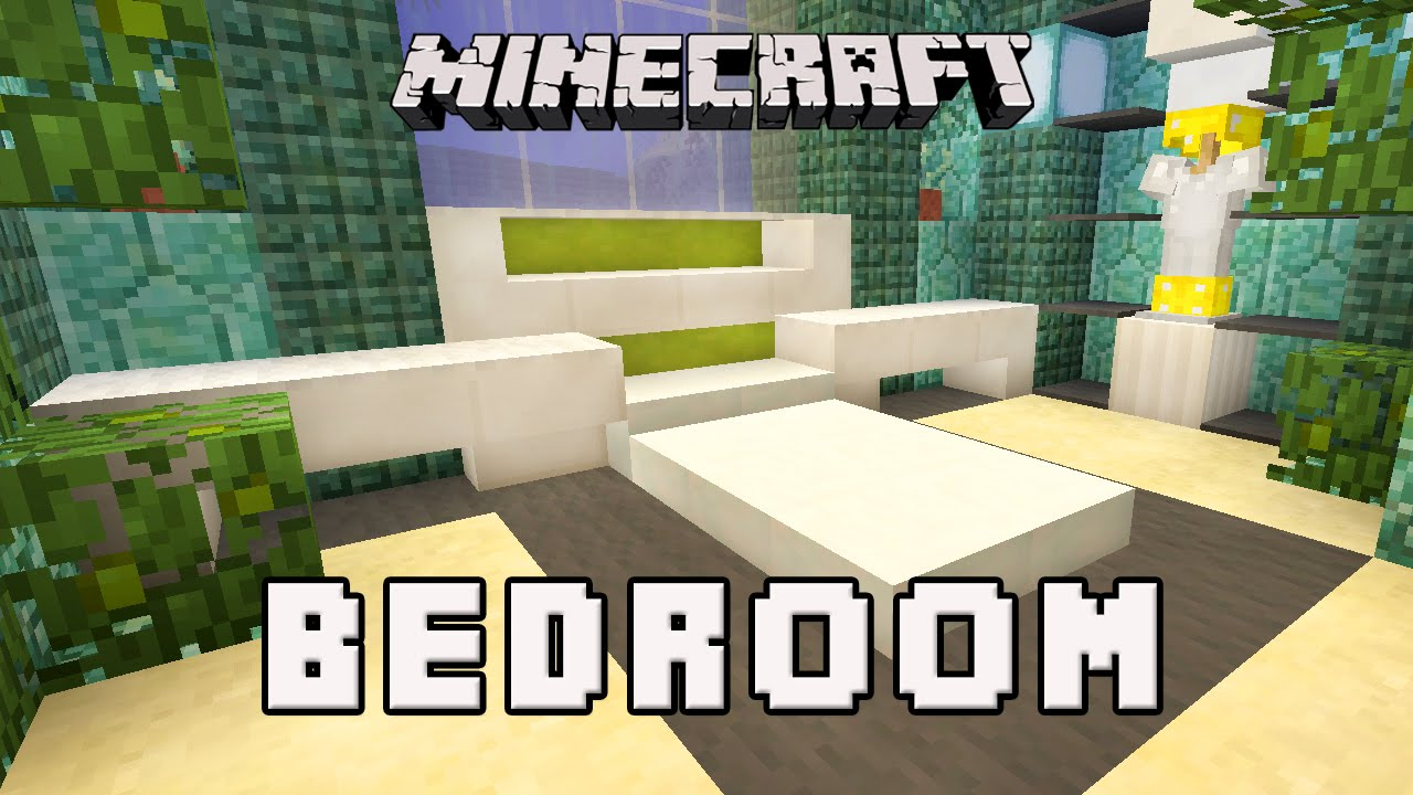 Minecraft tutorial how to make a modern bedroom design for Bedroom ideas on minecraft