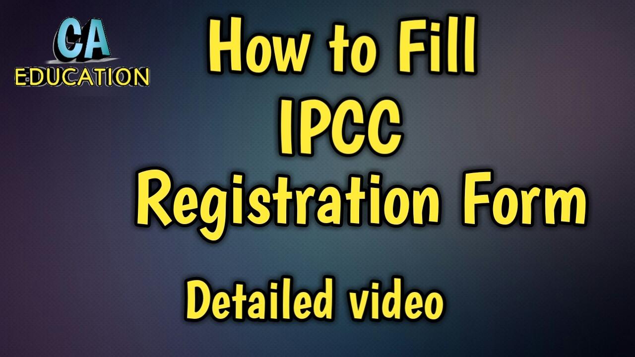 ipcc registration form