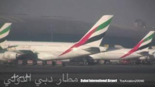 emirates b777 300 a6 ebh takeoff dubai amsterdam طيران الإمارات