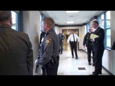 Intruder drill at Blue Ball Elementary School