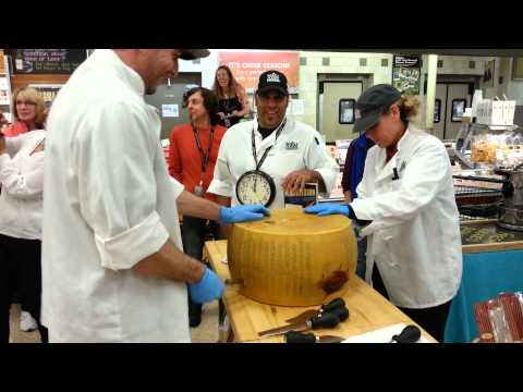 Whole Foods Market Santa Rosa California Guinness World Records Book Parmigiano Reggiano Crack 2013!