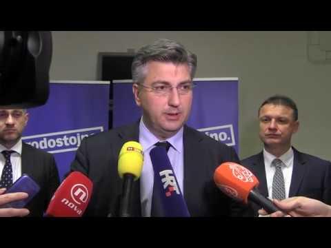 Izjava predsjednika Plenković...