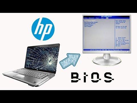 HP Laptop Broken Screen, how to enter bios in external monitor.