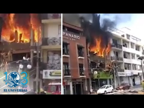 Explota pipa de gas en Tepatitl�n, Jalisco