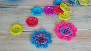 How to Crochet a Flower Button