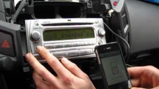 GTA Car Kits - Toyota Yaris 2006-2011 install of iPhone, Ipod and AUX adapter for factory stereo
