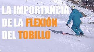 Como esquiar bien : la FLEXIÓN de los tobillos CON y SIN