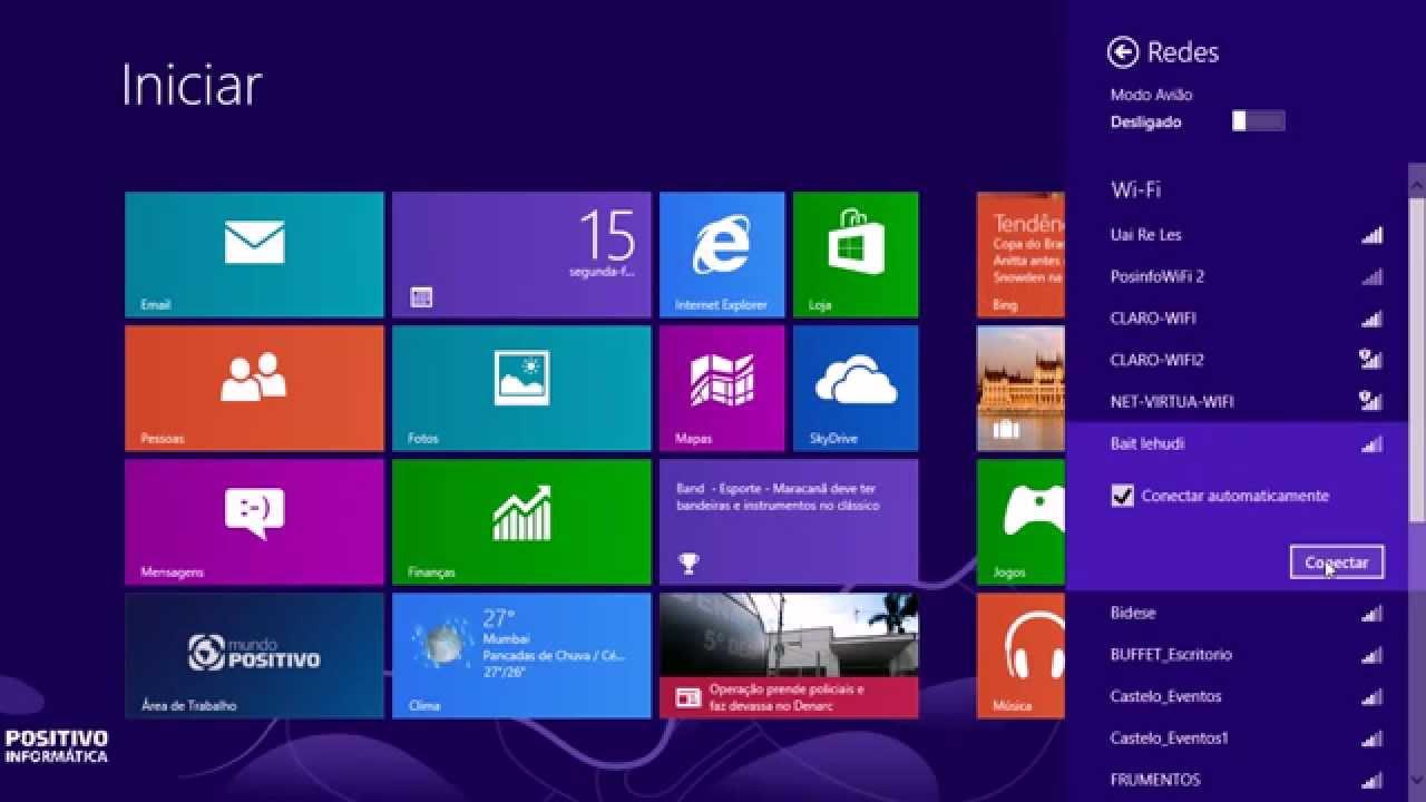 Dicas para Windows 8: Conexão Wireless
