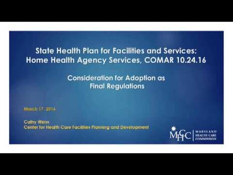 Maryland Health Care Commission March 2016 Commission Meeting
