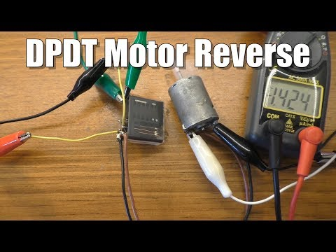 Use a DPDT Switch or Relay to Change Polarity/Motor Direction