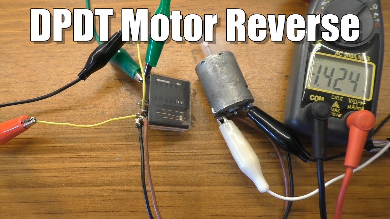 Use A Dpdt Switch Or Relay To Change Polarity Motor Direction Youtube 8 Pole Wiring Diagram