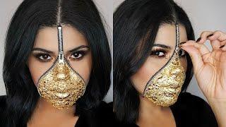 Maquillage Halloween Zipper.Easy Last Minute Zipper Face Makeup Using Gold Leaf Halloween Youtube