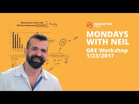 Mondays with Neil GRE Workshop - 1/23/2017 - Data Interpretation and Logic-Based Reading Comp