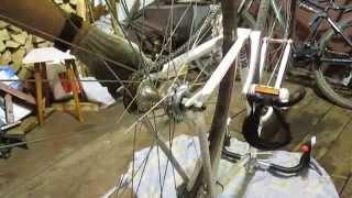 Натяжка цепи односкоростного велосипеда(Решил поменять звезду с трещетки на фикс заодно показал как правильно натянуть цепь., 2015-05-21T06:51:48.000Z)