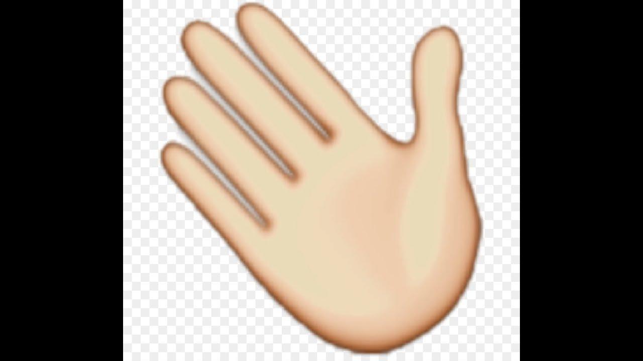 hand waving clipart - 742×810