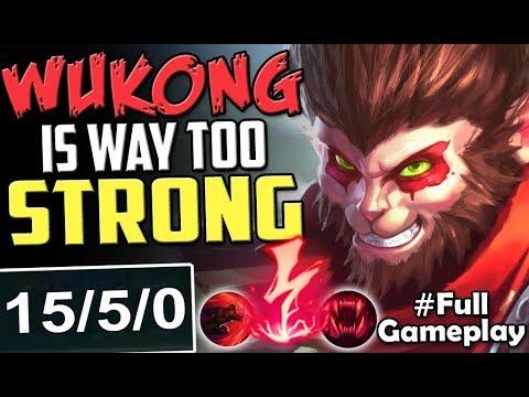 Wukong Is Way Too Strong New Runes Wukong Vs Gangplank Top New Runes Season 8 Full Gameplay