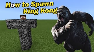how to spawn king kong   minecraft pe