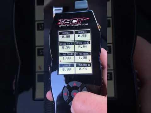 Data logging fuel trims using SCT X4