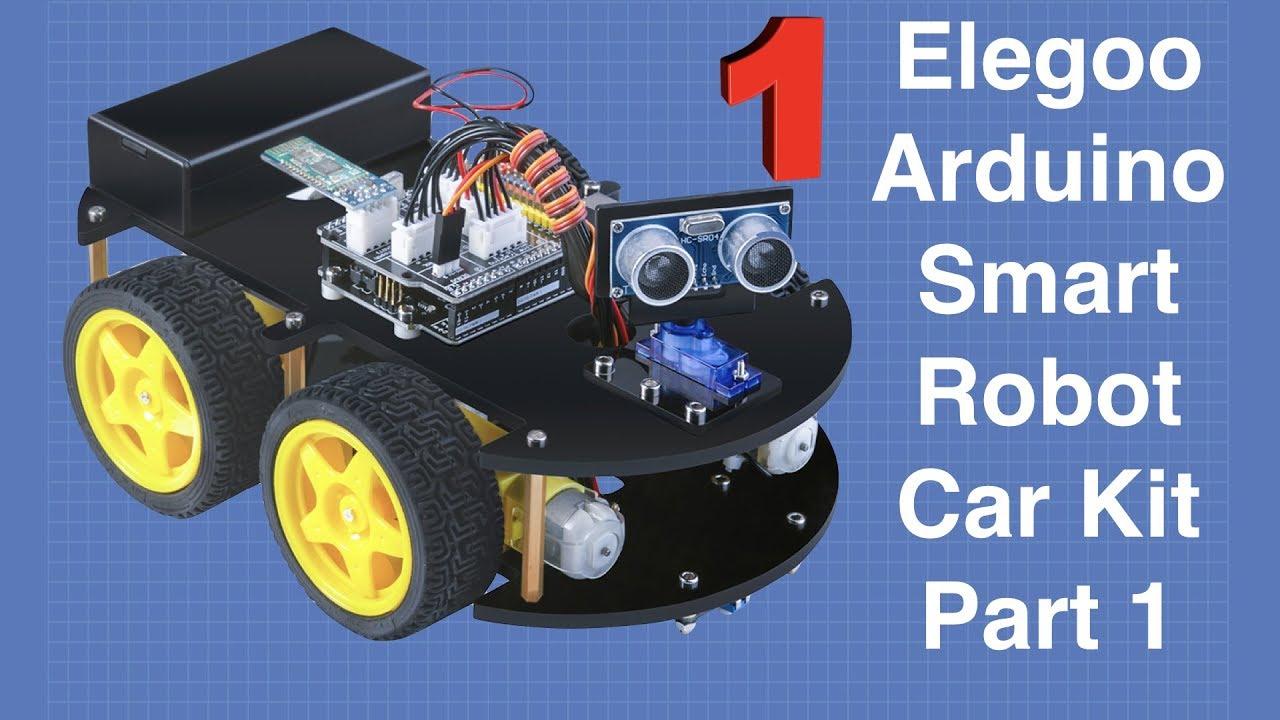 Building The Elegoo Smart Robot Car Part 1 Arduino Based Robotics