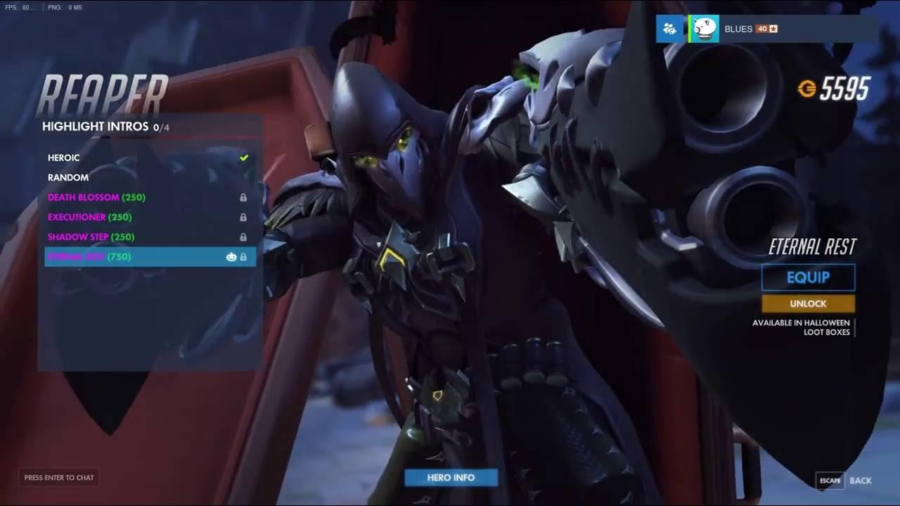 NEW REAPER HIGHLIGHT INTRO !!! (Halloween) - Overwatch - YouTube