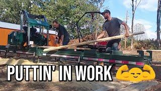 Putting His Sawmill To WORK! 💪 | Hoods Custom Shop