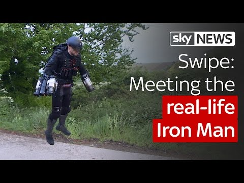 Watch inventor fly in self-made jet-powered suit