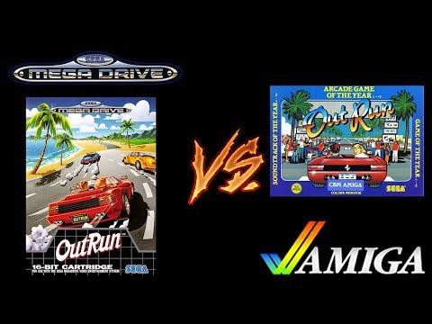 Outrun Port Comparison - Mega Drive vs. Amiga