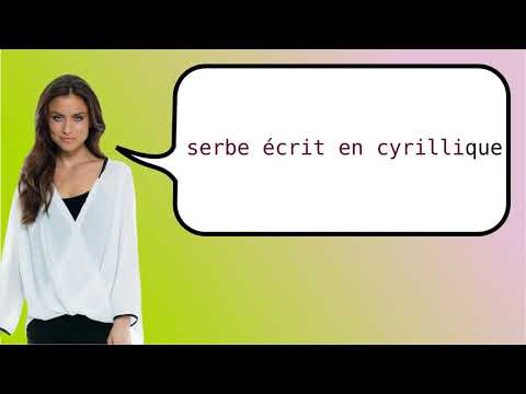 How to say 'Serbian Written Cyrillic Script' in French?