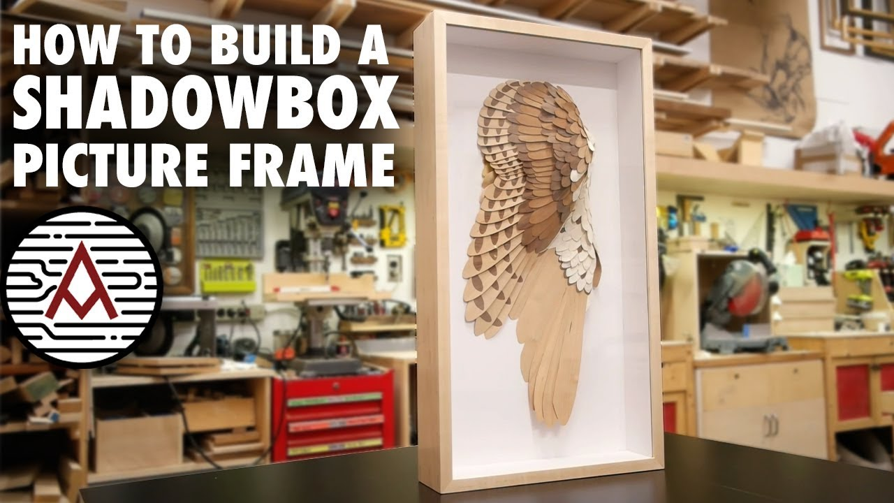 How To Build A Shadowbox Frame Woodworking Youtube