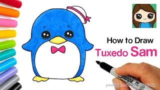 How to Draw a Cute Penguin | Sanrio Tuxedo Sam