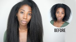 The Most Natural Looking Clip-ins!   HerGivenHair Kinky Blowout
