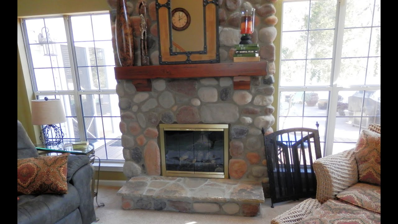 Stone Fireplace Design Charlotte Desert Rust River Rock