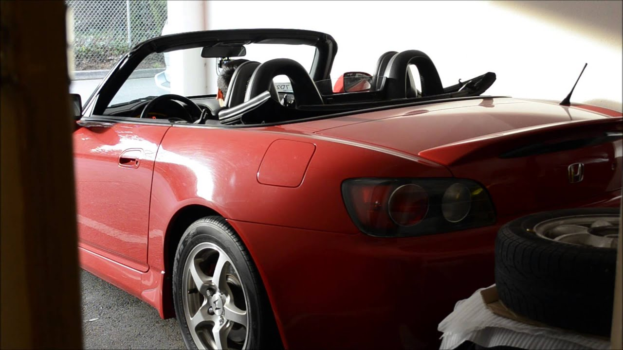 honda s2000 soft top opening closing demo youtube. Black Bedroom Furniture Sets. Home Design Ideas