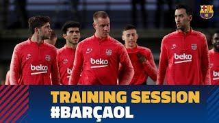 BARÇA 5-1 LYON | Full training session before facing Lyon