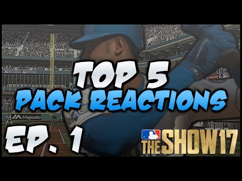 DIAMOND PULLS EVERYWHERE! BEST PACK REACTIONS IN MLB 17 EP. 1!