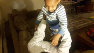 Funny babie video wrestling match and wiggling around