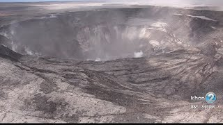 Drone footage gives rare look inside Halemaumau Crater