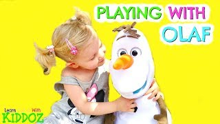 Playing With OLAF from FROZEN