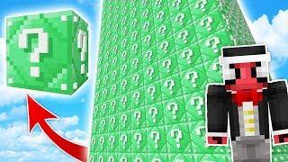 SONSUZ ZÜMRÜT KULE ŞANS BLOKLARI CHALLENGE - Minecraft